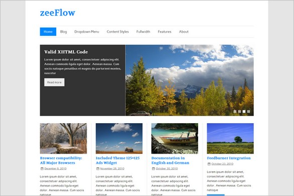 Mind Blowing WordPress Themes - zeeFlow