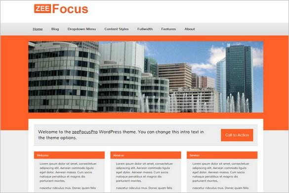 Exceptional and Free WordPress Themes - zeeFocus