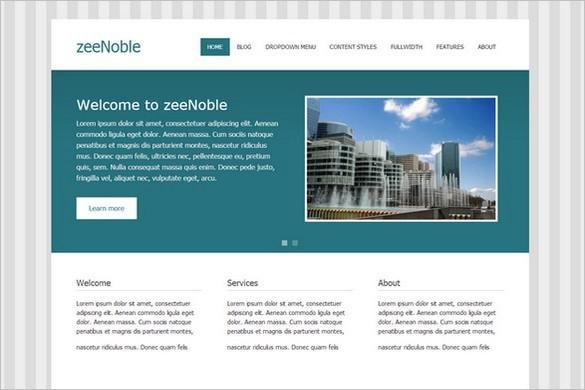 zeeNoble Free WordPress Theme