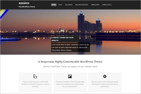 Free Fresh WordPress Themes - Adamos