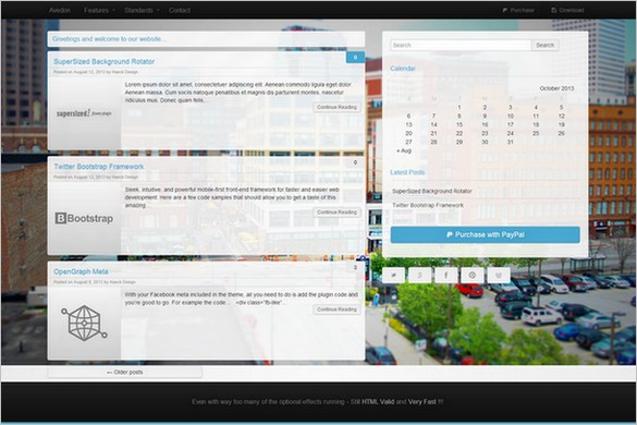 Dazzling Free WordPress Themes - Avedon