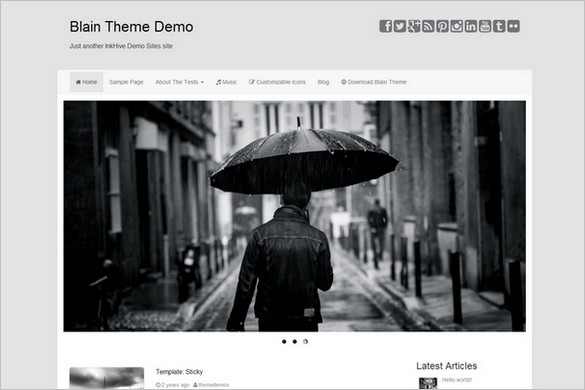 Dazzling Free WordPress Themes - Blain