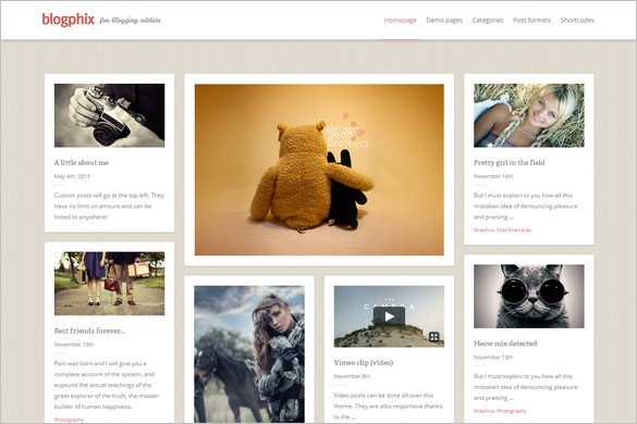Pinterest Inspired Themes for WordPress - Blogphix