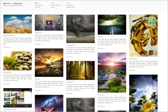 Pinterest Inspired Themes for WordPress -  Brick + Mason