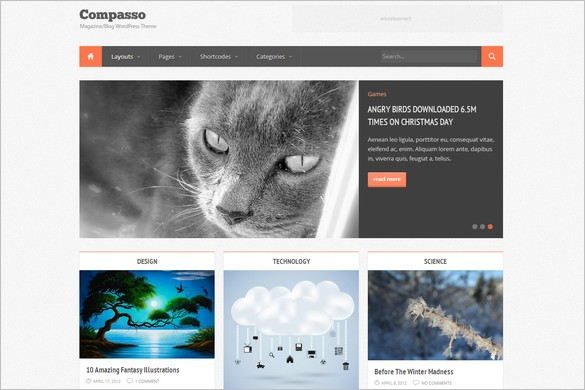 Pinterest Inspired Themes for WordPress - Compasso