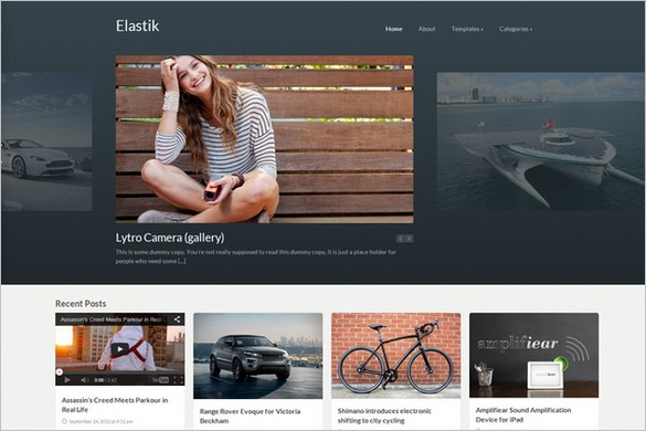 Pinterest Inspired Themes for WordPress - Elastik