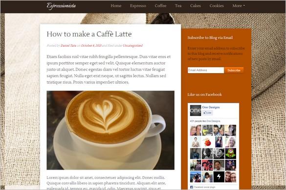 Dazzling Free WordPress Themes - Espressionista