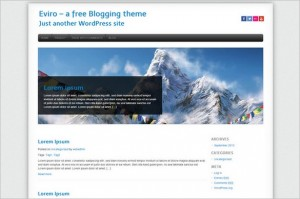 Brand New Free WordPress Themes - Eviro