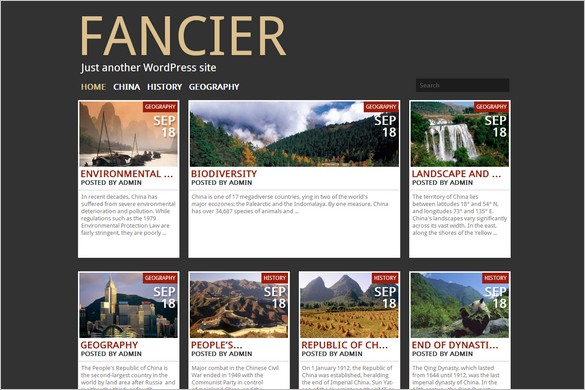 Free Fresh WordPress Themes - Fancier