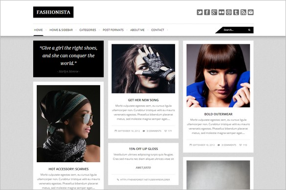 Pinterest Inspired Themes for WordPress - Fashionista