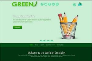 Dazzling Free WordPress Themes - Green Eye