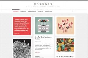 Pinterest Inspired Themes for WordPress - Hoarder