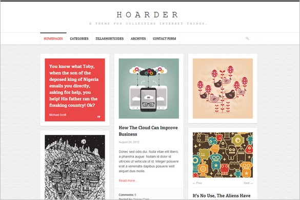 Pinterest Inspired Themes for WordPress - Hoarder