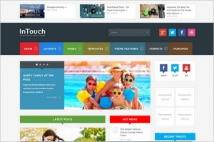 Attractive WordPress Themes- InTouch