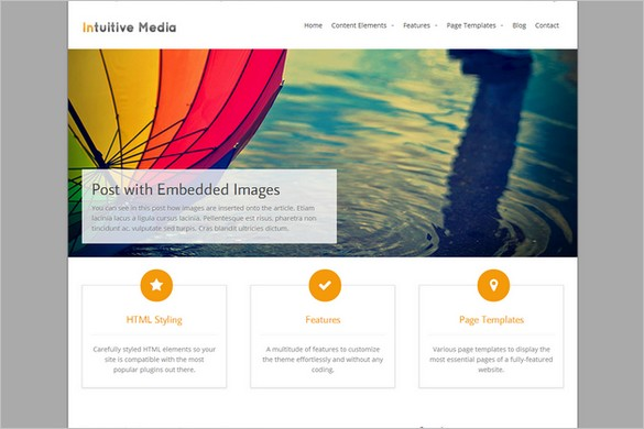 Brand New Free WordPress Themes - Intuition