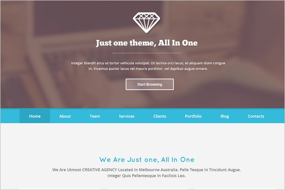One Page WordPress Themes - Just One