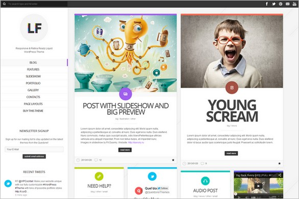 Pinterest Inspired Themes for WordPress - LiquidFolio