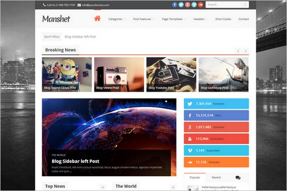 Attractive WordPress Themes - Manshet