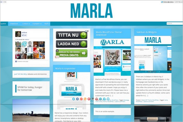 Pinterest Inspired Themes for WordPress - Marla