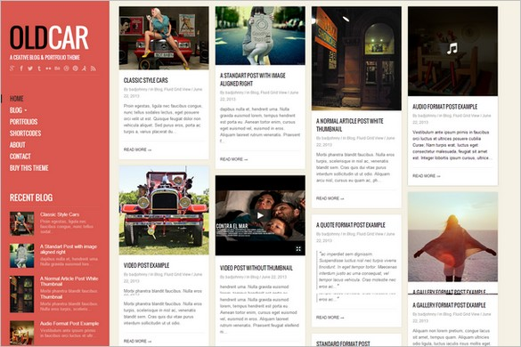 Pinterest Inspired Themes for WordPress - OldCar