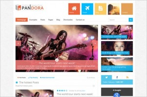 Attractive WordPress Themes - Pandora