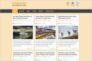 Pinterest Inspired Themes for WordPress - Pinboard