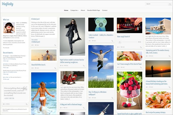 Pinterest Inspired Themes for WordPress - Pinfinity