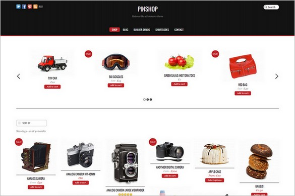 Pinterest Inspired Themes for WordPress - Pinshop