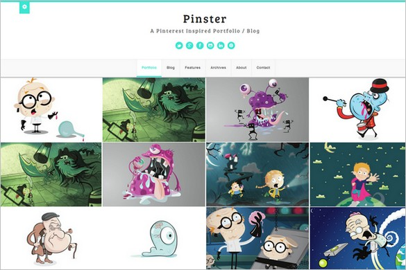 Pinterest Inspired Themes for WordPress - Pinster