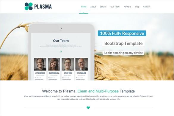 One Page WordPress Themes - Plasma