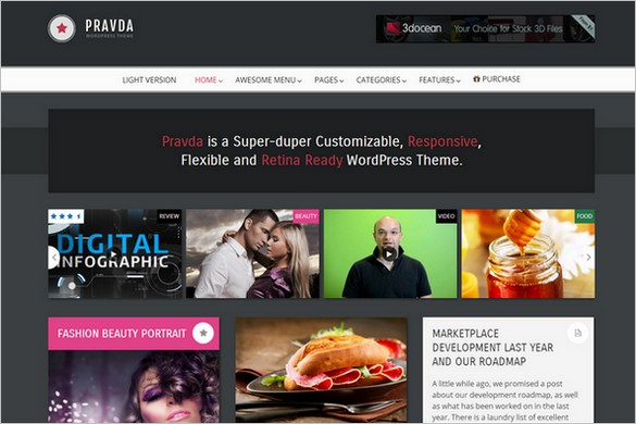 Pinterest Inspired Themes for WordPress - Pravda