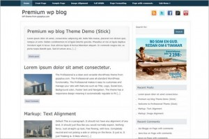 Premium WP Blog Free WordPress Theme