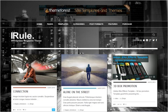 Pinterest Inspired Themes for WordPress - Rule