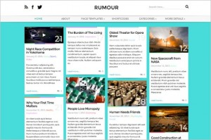 Pinterest Inspired Themes for WordPress - Rumour