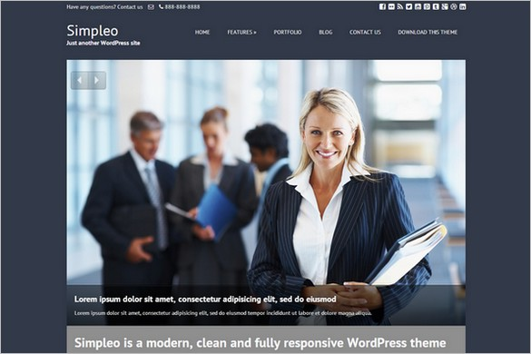 Simpleo Free WordPress Theme