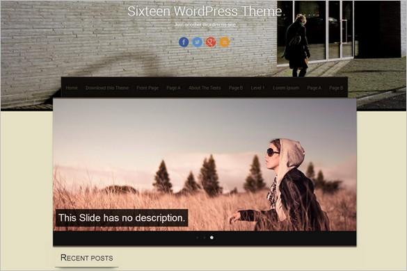 Sixteen Free WordPress Theme