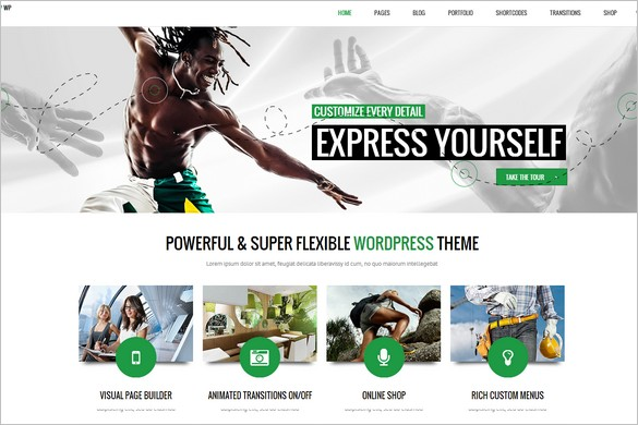 Attractive WordPress Themes - Subway