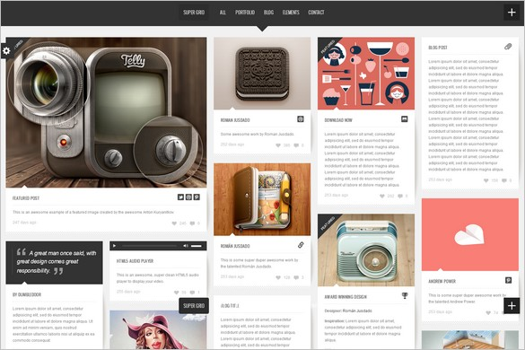 Pinterest Inspired Themes for WordPress - Super Grid