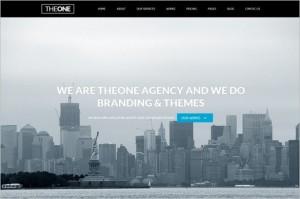 One Page WordPress Themes - TheOne