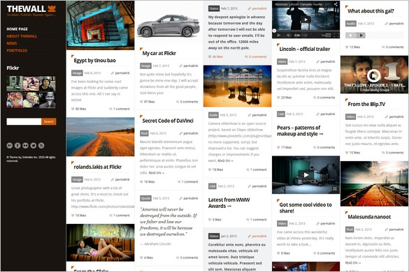 Pinterest Inspired Themes for WordPress - TheWall