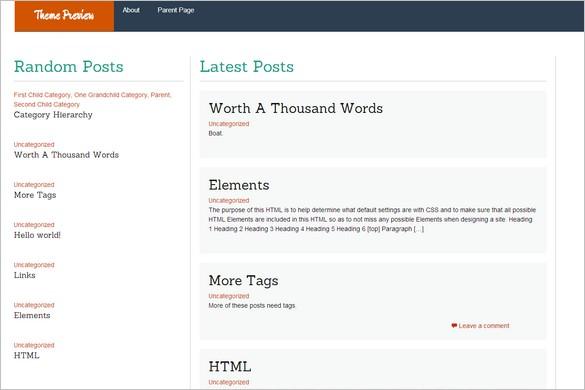 Dazzling Free WordPress Themes - WP FlatThirteen