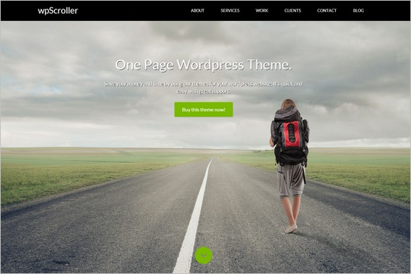 One Page WordPress Themes - WpScroller