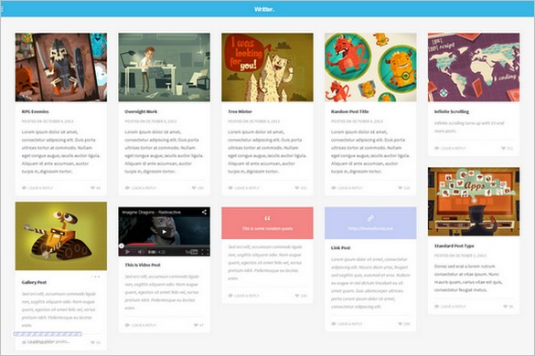 Pinterest Inspired Themes for WordPress - Writter