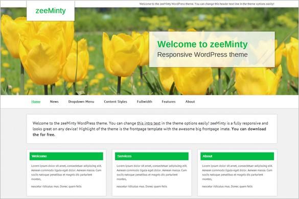 Dazzling Free WordPress Themes - zeeMinty
