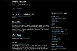 WordPress Themes Directory - Clean Black