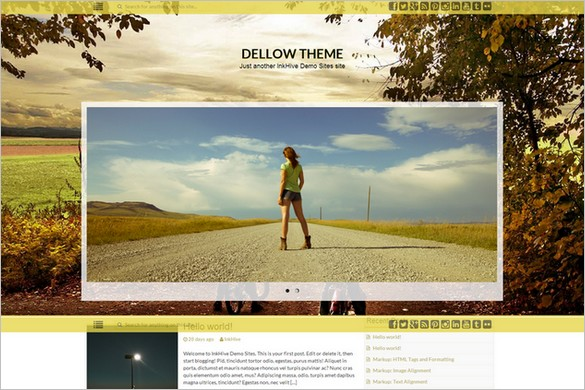 Best Free WordPress Theme Releases - Dellow
