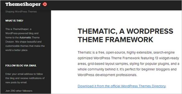 WordPress Theme Frameworks - Thematic