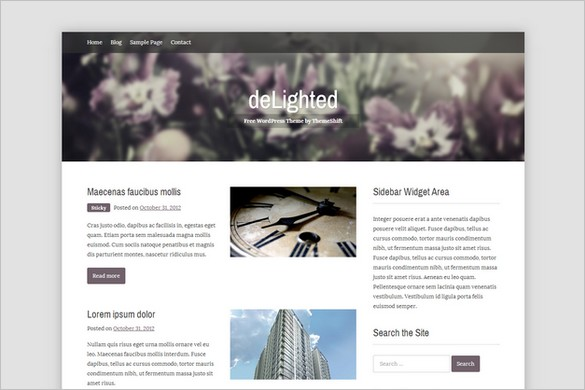Best Free WordPress Theme Releases - deLighted