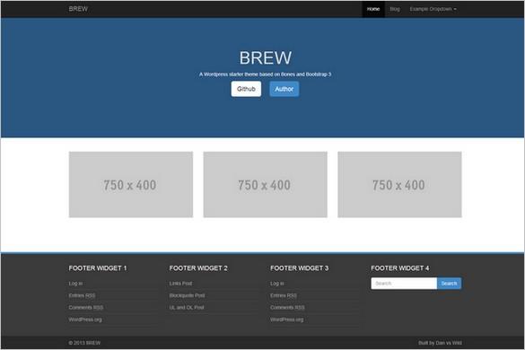 BREW Free WordPress Theme