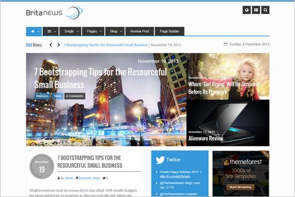 Magazine WordPress Themes - BritaNews